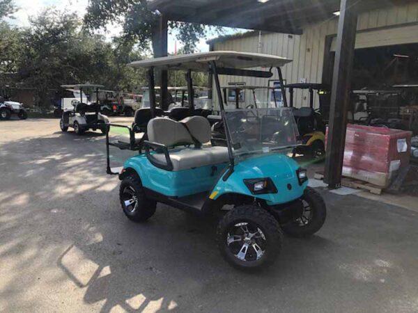 Used 2016 EFI gas Yamaha 4 passenger golf cart 2