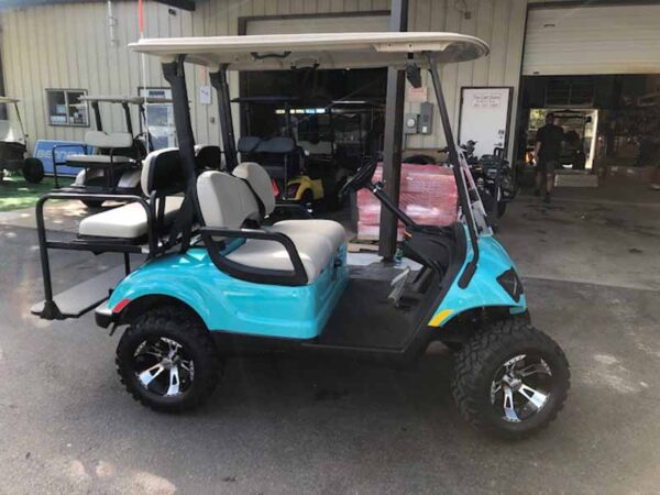 Used 2016 EFI gas Yamaha 4 passenger golf cart 3