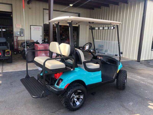 Used 2016 EFI gas Yamaha 4 passenger golf cart 4