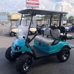 Used 2016 EFI gas Yamaha 4 passenger golf cart 6