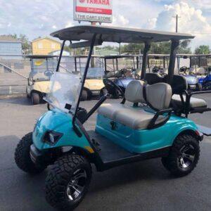 Used 2016 EFI gas Yamaha 4 passenger golf cart 6